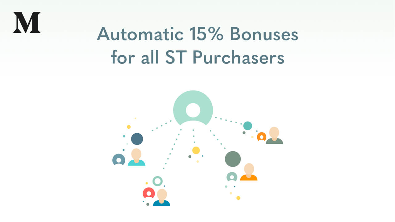 Automatic 15% Bonuses for all ST Purchasers Based on ETH Fluctuations During ST Token Sale