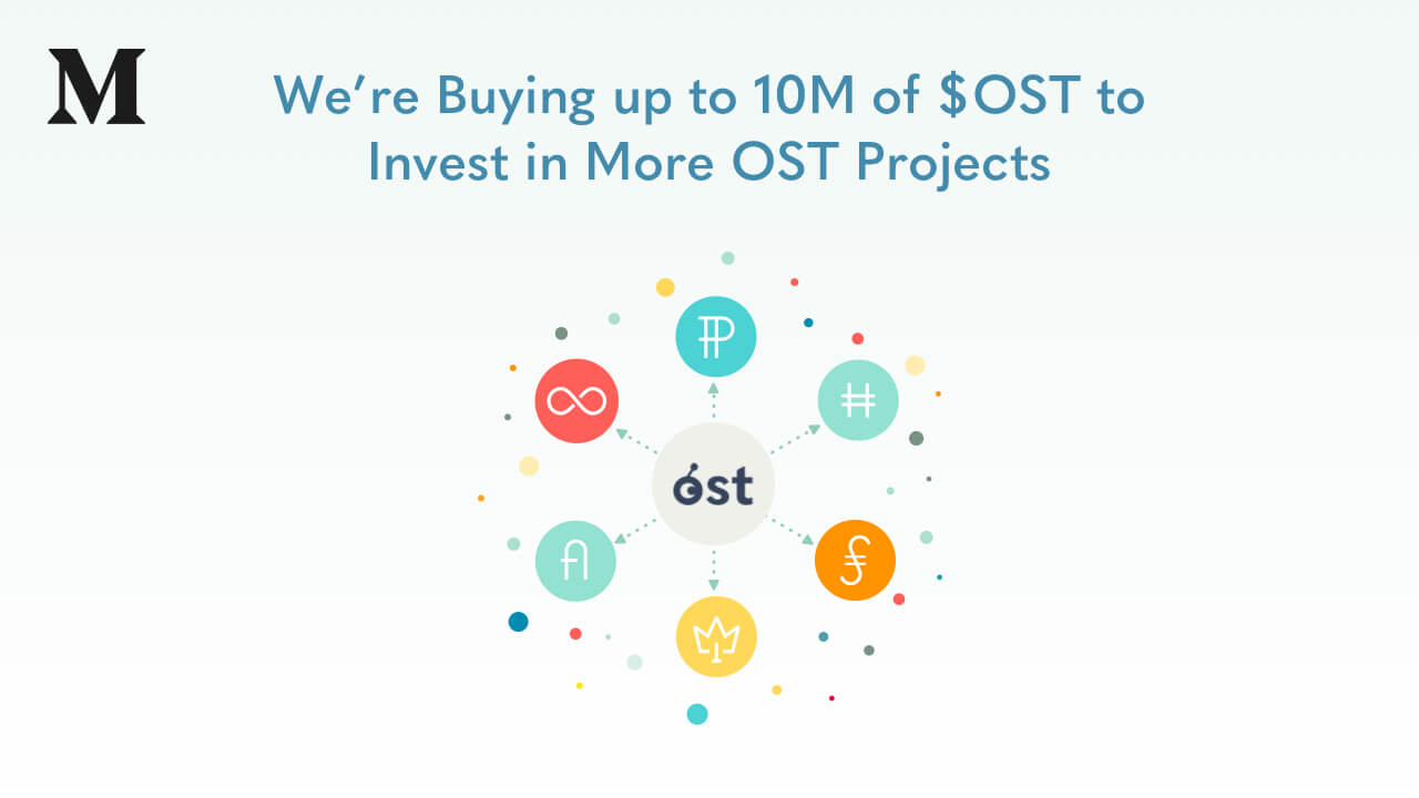 We're Buying up to 10M of $OST to Invest in More OST Projects