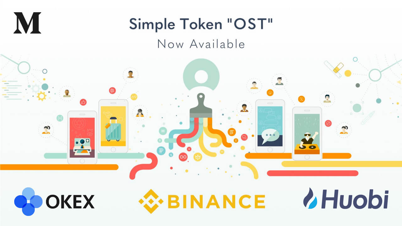 $OST now available for purchase on 3 of the top 5 global crypto exchanges.