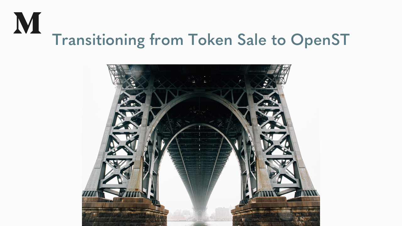 Transitioning from Token Sale to OpenST